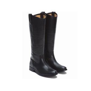 Frye 'Melissa Button' Black Riding Boot Sz 8.5